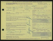 Entry card for Tecau, Troyan, Jr. for the 1971 May Show.