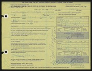 Entry card for Vessa, Michael for the 1971 May Show.