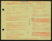 Entry card for Wooddell, Joseph M. for the 1971 May Show.