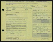 Entry card for Drahos, Dean Franklin for the 1972 May Show.