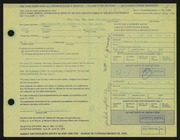 Entry card for Grauer, William C. for the 1972 May Show.