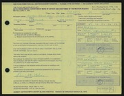 Entry card for Molner, Denis M. for the 1972 May Show.