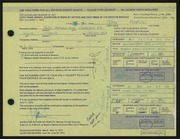 Entry card for Pearson, John for the 1972 May Show.