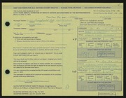 Entry card for Pizzini, Paul for the 1972 May Show.