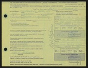 Entry card for Woehrman, Ralph for the 1972 May Show.