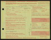 Entry card for Wooddell, Joseph M. for the 1972 May Show.