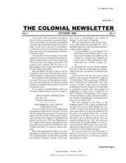 The Colonial Newsletter, no. 1