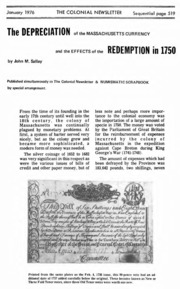 The Colonial Newsletter, no. 45