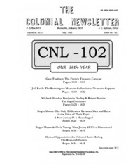 The Colonial Newsletter, no. 102