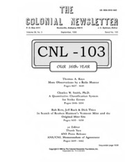 The Colonial Newsletter, no. 103