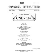 The Colonial Newsletter, no. 109