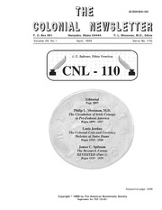The Colonial Newsletter, no. 110