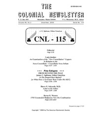 The Colonial Newsletter, no. 115