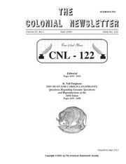 The Colonial Newsletter, no. 122