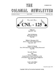 The Colonial Newsletter, no. 125