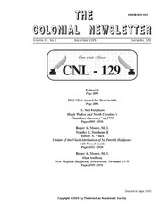 The Colonial Newsletter, no. 129