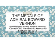 The Medals of Admiral Edward Vernon