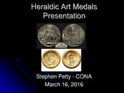 Heraldic Art Medals