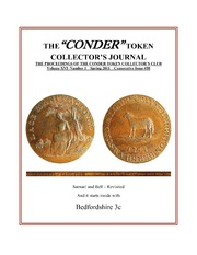"The ""Conder"" Token Collectors's Journal"