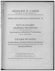 Versteigerungs-Katalog No. 71