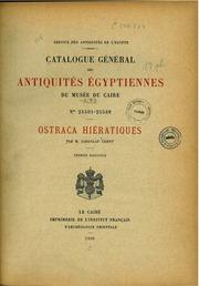 Catalogue général des antiquités égyptiennes du Musée du Caire N°25501-25538, Ostraca hiératiques. T. I, Fasc. 1 1930