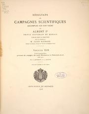 Vol fasc.49 1916: Chétognathes provenant des campagnes des yachts Hirondelle et Princesse-Alice 1885-1910