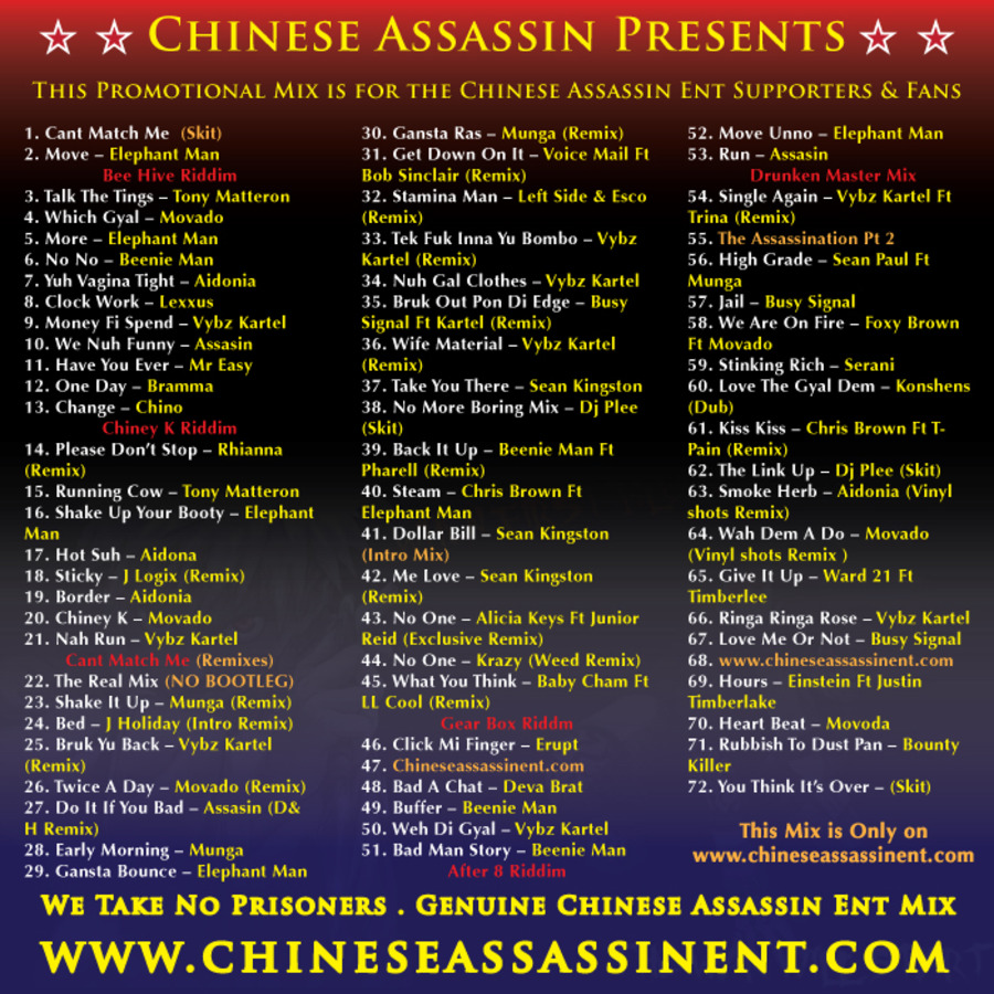 Chinese Assassin - Theres No One That Can Match Me (Mixtape