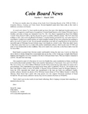 Coin Board News #1