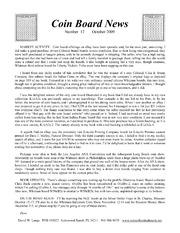 Coin Board News no. 12