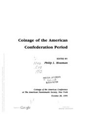 Coinage Of The American Confederation Period (COAC #11)