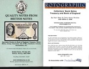 Collectors' Bank Notes Treasury And Bank Of England (15th edition)