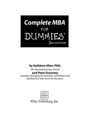 mba for dummies free download pdf