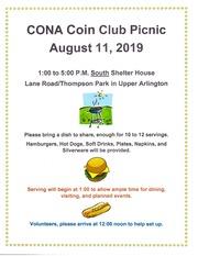 Central Ohio Numismatic Association (June 2019)