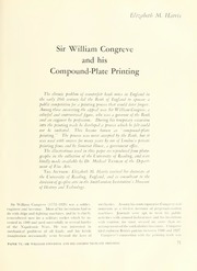 Sir William Congreve and His Compound-Plate Printing