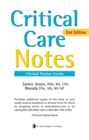 Critical Care Notes Clinical Pocket Guide 2e : Free Download