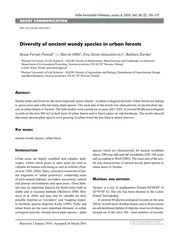Diversity of ancient woody species in urban forests