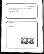 DTIC ADA015837: Damage Probabilities for Small-CEP, Low-Yield Airburst-Groundburst Attacks Against Selected PVN and QVN Point Targets