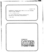 DTIC ADA017734: Atmospheric Transmittance from 0.25 to 28.5 Microns: Computer Code LOWTRAN 3