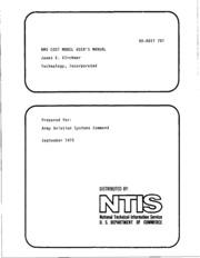 DTIC ADA017761: RMS Cost Model User-s Manual