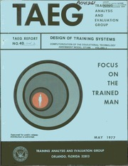 DTIC ADA041261: Design of Training Systems. Computerization of the Educational Technology Assessment Model (ETAM). Volume 2