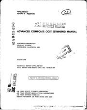 DTIC ADA041496: Advanced Composite Cost Estimating Manual. Volume II. Appendix