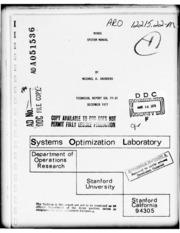 DTIC ADA051536: MINOS System Manual.