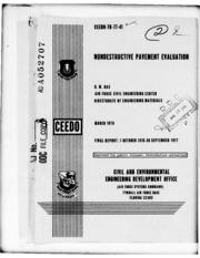 DTIC ADA052707: Nondestructive Pavement Evaluation.