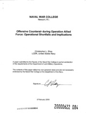 DTIC ADA378604: Ofensive Counterair During Operation Allied
