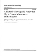A slotted-waveguide array for high-power microwave transmission havasu poker run 2014