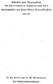 Das Reichsverkehrsministerium