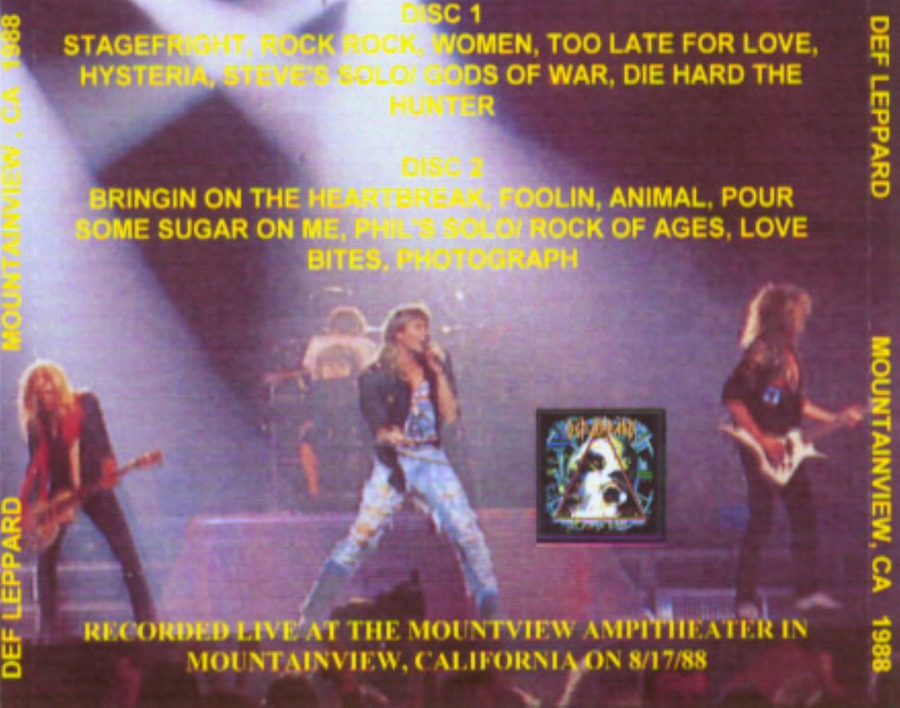 Def Leppard - 1988-08-17 - MountainView, CA, USA - Shoreline