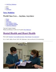 Dental Health And Heart Health