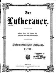Der Lutheraner, Volume 87, 1931 partial only