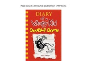 Diary Of A Wimpy Kid Double Down Jeff Kinney Free Download Borrow And Streaming Internet Archive